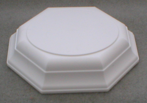 Large Oval Top White Base