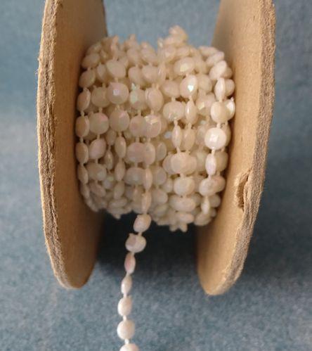 Flat Iridescent Fused Pearls